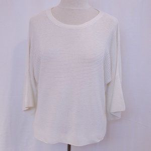 Wilfred Relaxed Fit Rib Knit White Sweater- Sz. Sm